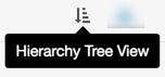 Esta imagen muestra el icono de vista de árbol de jerarquía.