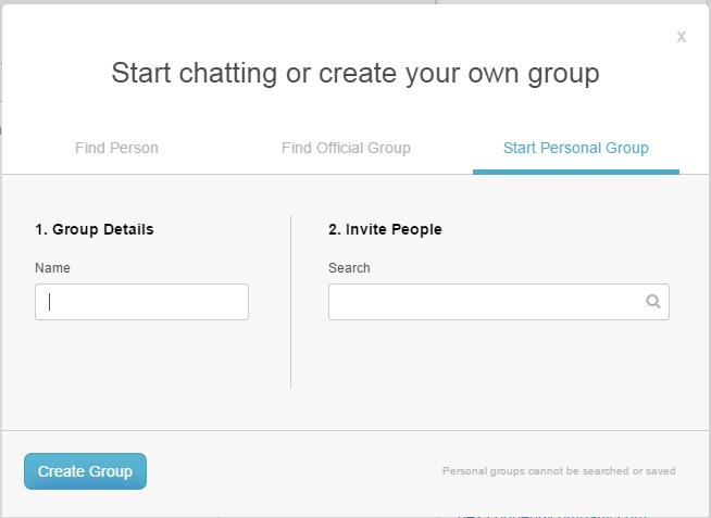 Cree su propio grupo personal